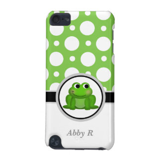 Froggy Green & White Polka Dot iPod Touch 5G iPod Touch 5G Cover