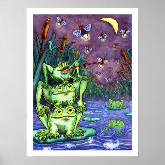 Froggy Night - Animals - 18 x 24 Poster