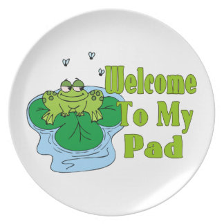 Froggy Says Welcome To My Pad Plate