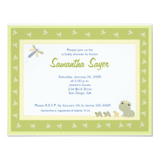Froggy Tales Frog Prince Baby Shower 4.25 x 5.5 Card