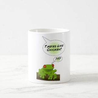 Froggy tastes like chicken. coffee mug