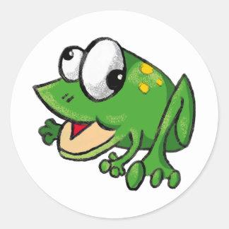 Froggy Toon Classic Round Sticker