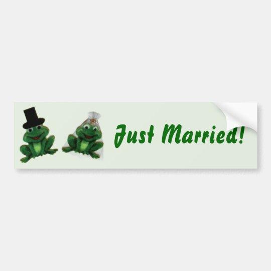 Froggy Wedding - Bumper Sticker