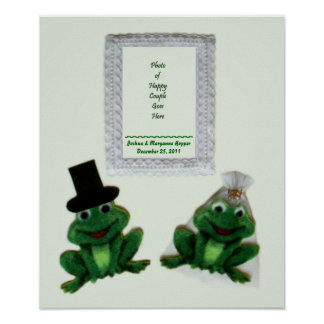 Froggy Wedding Poster / Display
