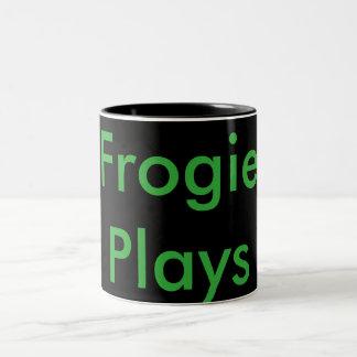 Frogie Plays black mug