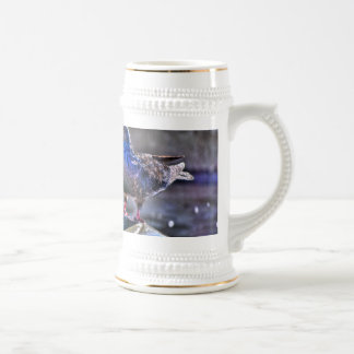 Frogs And A Pigeon Beer Stein