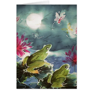 Frogs and Flowers Card