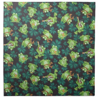 Frogs and Shamrocks Napkin