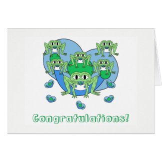 Frogs Baby Greeting Card