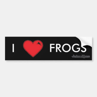 Frogs Bumper Sticker