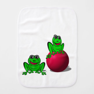 Frogs Burp Cloth