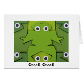 Frogs, Croak Croak Birthday card