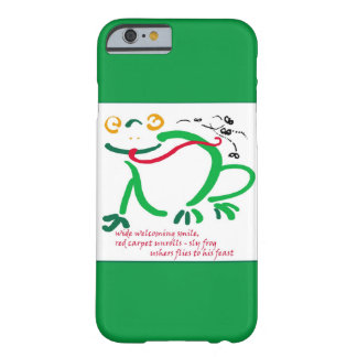 Frog's feast haiku barely there iPhone 6 case