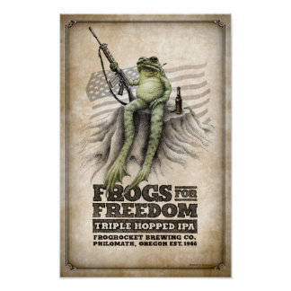 Frogs for Freedom Triple-hopped IPA Poster