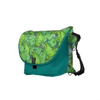 Frogs, Frogs, Frogs Messenger Bag