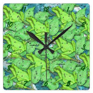 frogs, frogs, frogs wall clock