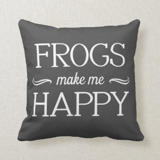 Frogs Happy Pillow - Assorted Styles & Colors