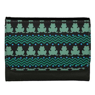 Frogs in a Row Pattern Wallet