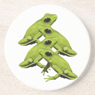 FROGS IN FOUR BEVERAGE COASTER