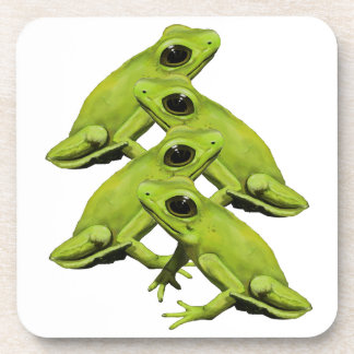 FROGS IN FOUR BEVERAGE COASTERS