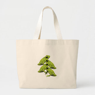 FROGS IN FOUR LARGE TOTE BAG