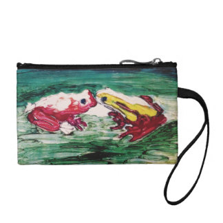 frogs,kissing,maui,hawaii,coin purse coin wallets