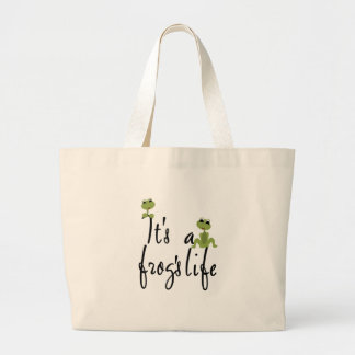 Frogs Life  Large Tote Bag