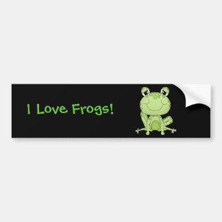 Frogs Lover Products Bumper Sticker