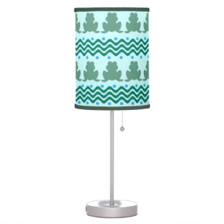 Frogs Pattern Design Table Lamp
