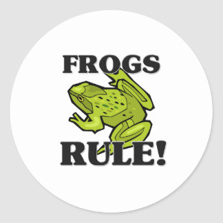 FROGS Rule! Classic Round Sticker