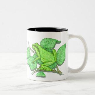 Frogs Two-Tone Coffee Mug