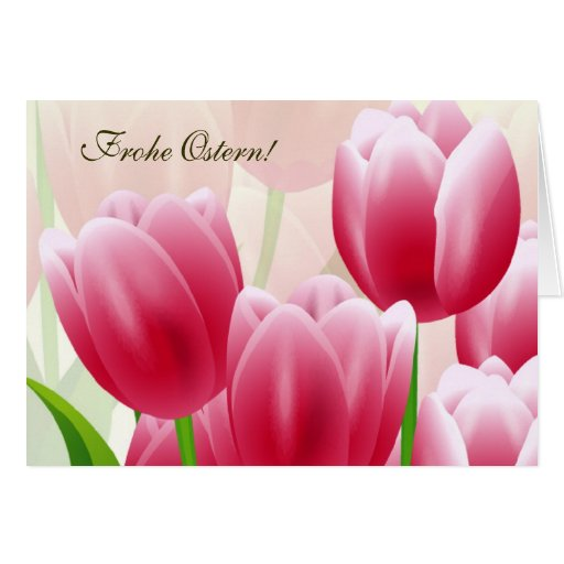 Frohe Ostern. Customizable German Easter Card