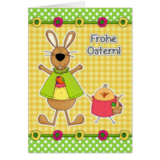 Frohe Ostern Customizable German Easter Cards