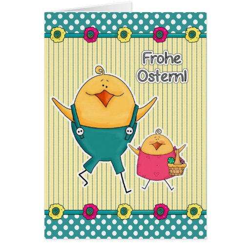 Frohe Ostern. Customizable German Easter Cards