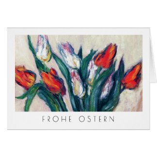 Frohe Ostern. Fine Art Easter Card in German