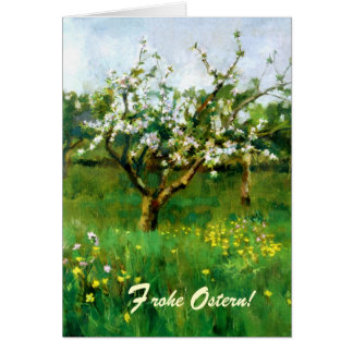 Frohe Ostern. Fine Art German Easter Card