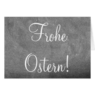 Frohe Ostern German Germany Easter Chalkboard Text Card