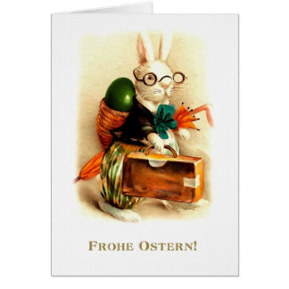 Frohe Ostern. German Happy Easter Greeting Card