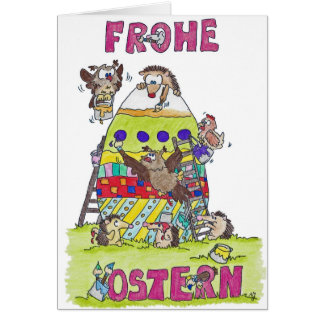 FROHE OSTERN greeting card by Nicole Janes