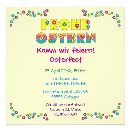 Frohe Ostern Custom Invite