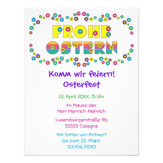 Frohe Ostern Custom Announcements