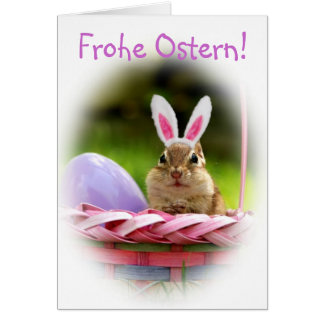 Frohe Ostern Little Chipmunk Greeting Card