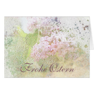 Frohe Ostern Textured Lilacs Card