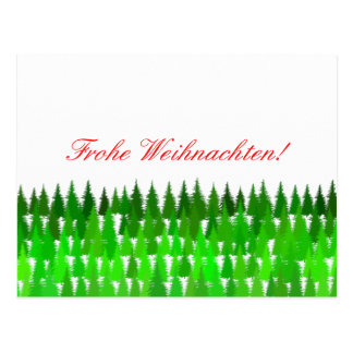 Frohe Weihnachten! German Merry Christmas Postcard