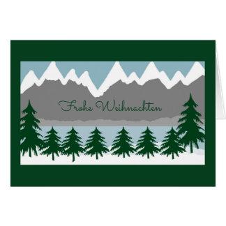 Frohe Weihnachten Grusskarte Card
