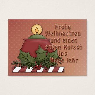 Frohe Weihnachten - Kerzen Motiv Business Card