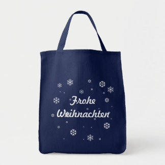 Frohe Weihnachten Snowflakes Tote Bag