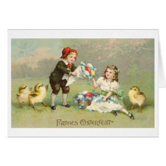 Frohes Osterfest! Vintage German Easter Card
