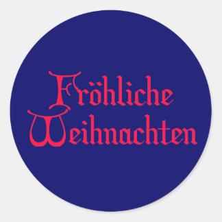 fröhliche Weihnachten Classic Round Sticker