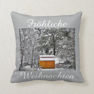 Fröhliche Weihnachten Kissen Throw Pillow
